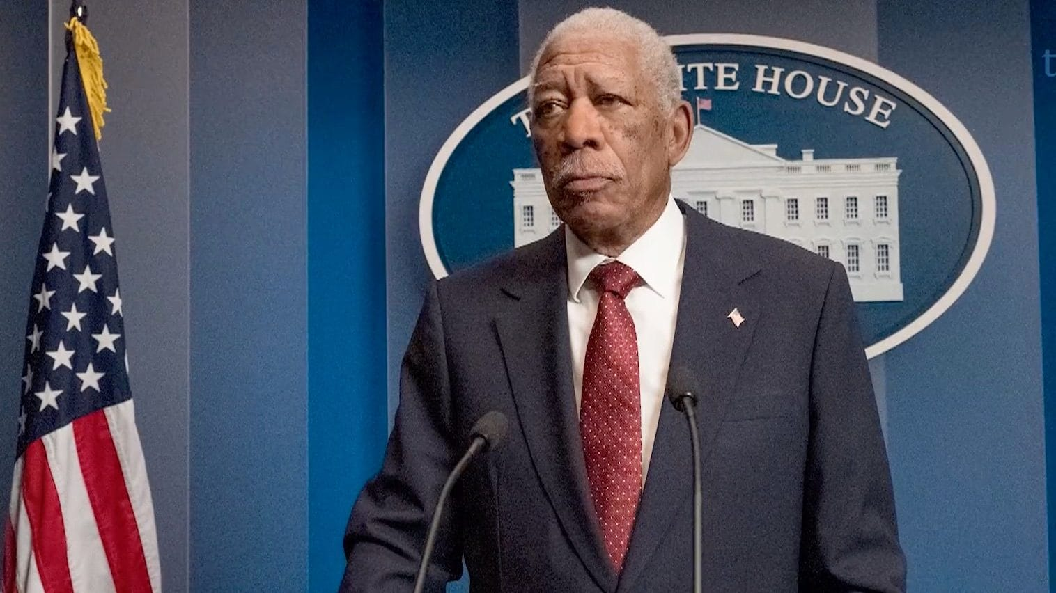 Morgan Freeman on playing POTUS in 'Angel Has Fallen'