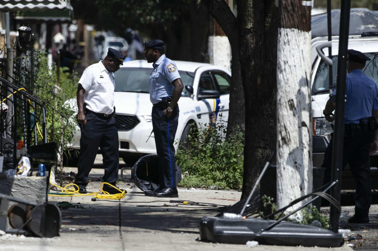 Man arrested after allegedly shooting six police officers in Philadelphia siege