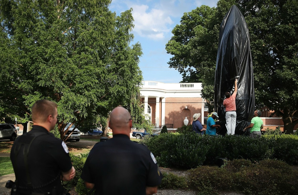 Judge rules confederate statue behind Charlottesville rally to remain standing