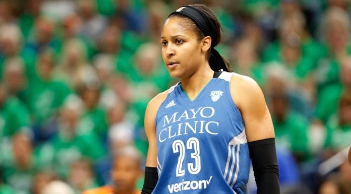 Minnesota Lynx's Maya Moore plays in the first quarter during Game 5 of the WNBA basketball finals against the Los Angeles Sparks Thursday, Oct. 20, 2016, in Minneapolis. (AP Photo/Jim Mone) thegrio.com