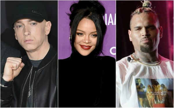 Eminem dragged for lyrics that defend Chris Brown for beating her, issues response