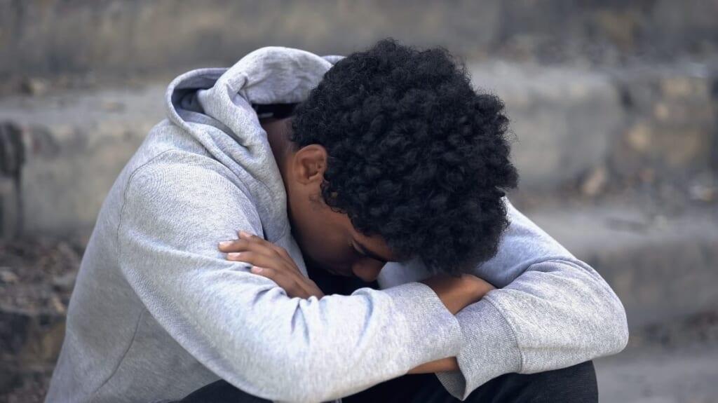 sad Black boy
