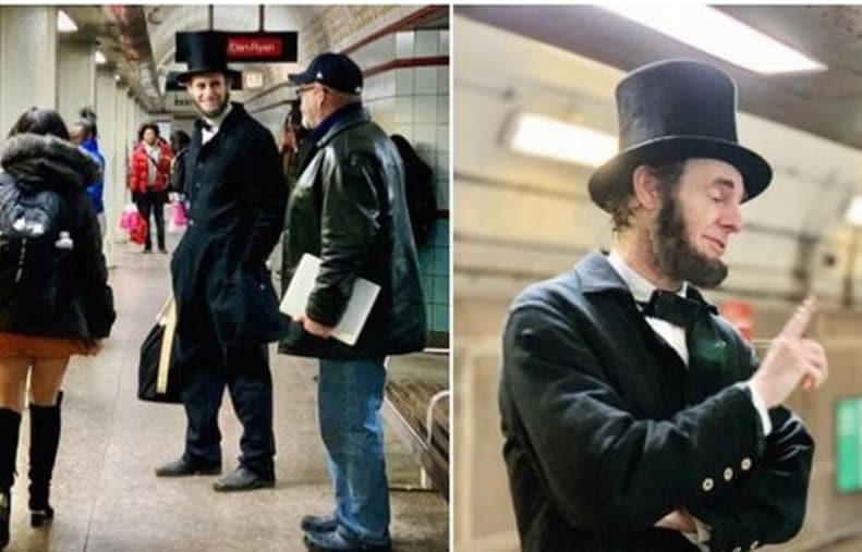 Chicago Transit Authority links photos of Abraham Lincoln impersonator to Black History Month