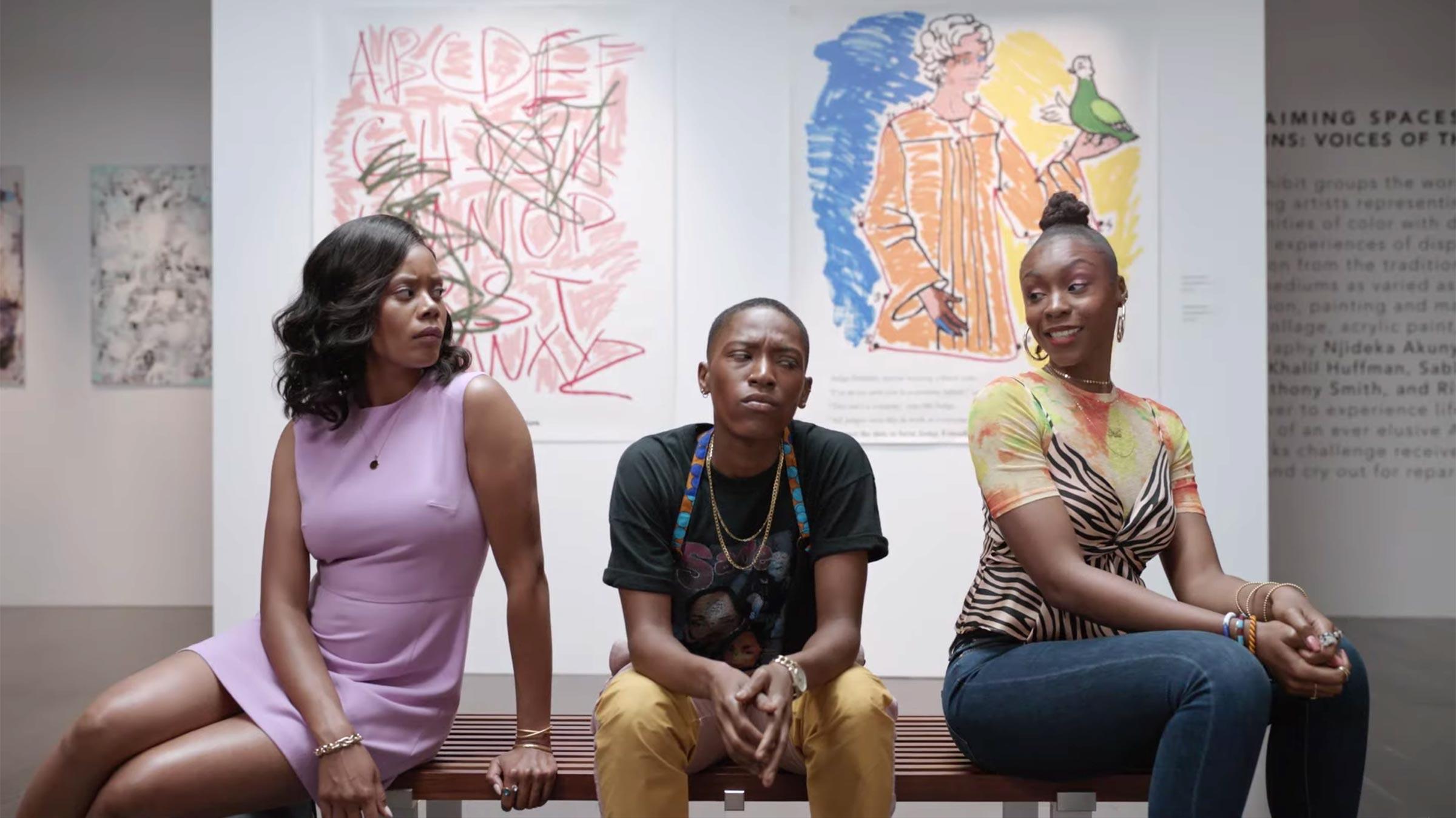 Ebony Lesbian Threesome Strap