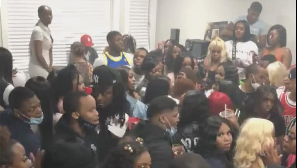 Chi-Town House Party Shelters In Hundreds !?  [VIDEO]