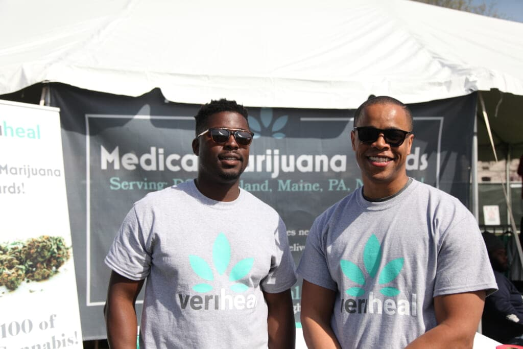 Veriheal cofounders Sam Adetunji and Josh Green