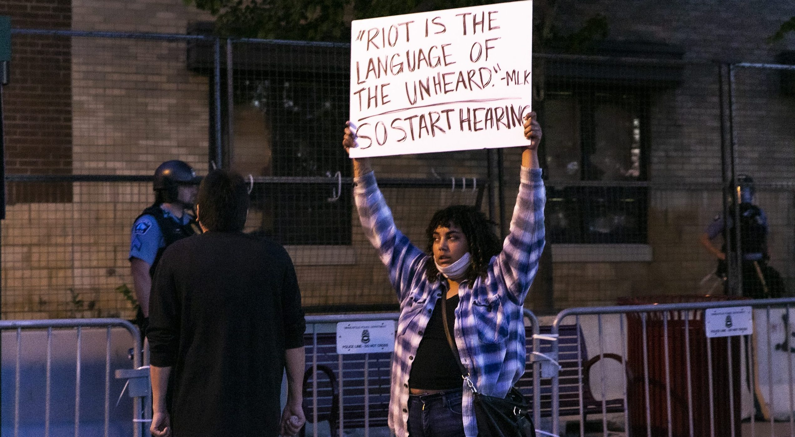 The are no 'riots' in Minneapolis after the death of George Floyd