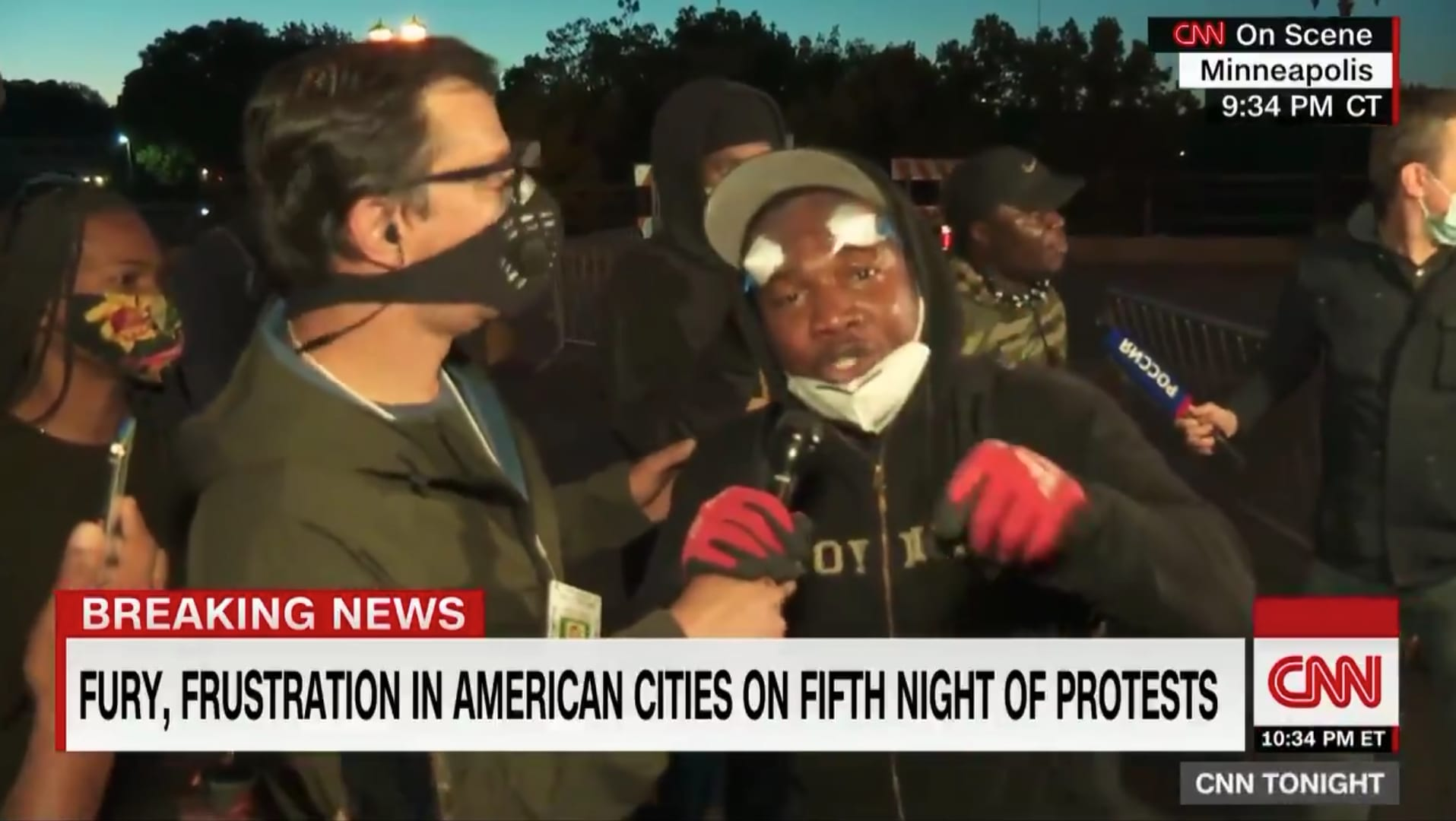 Minnesota protester on CNN calls out looters: 'Something's wrong with you'