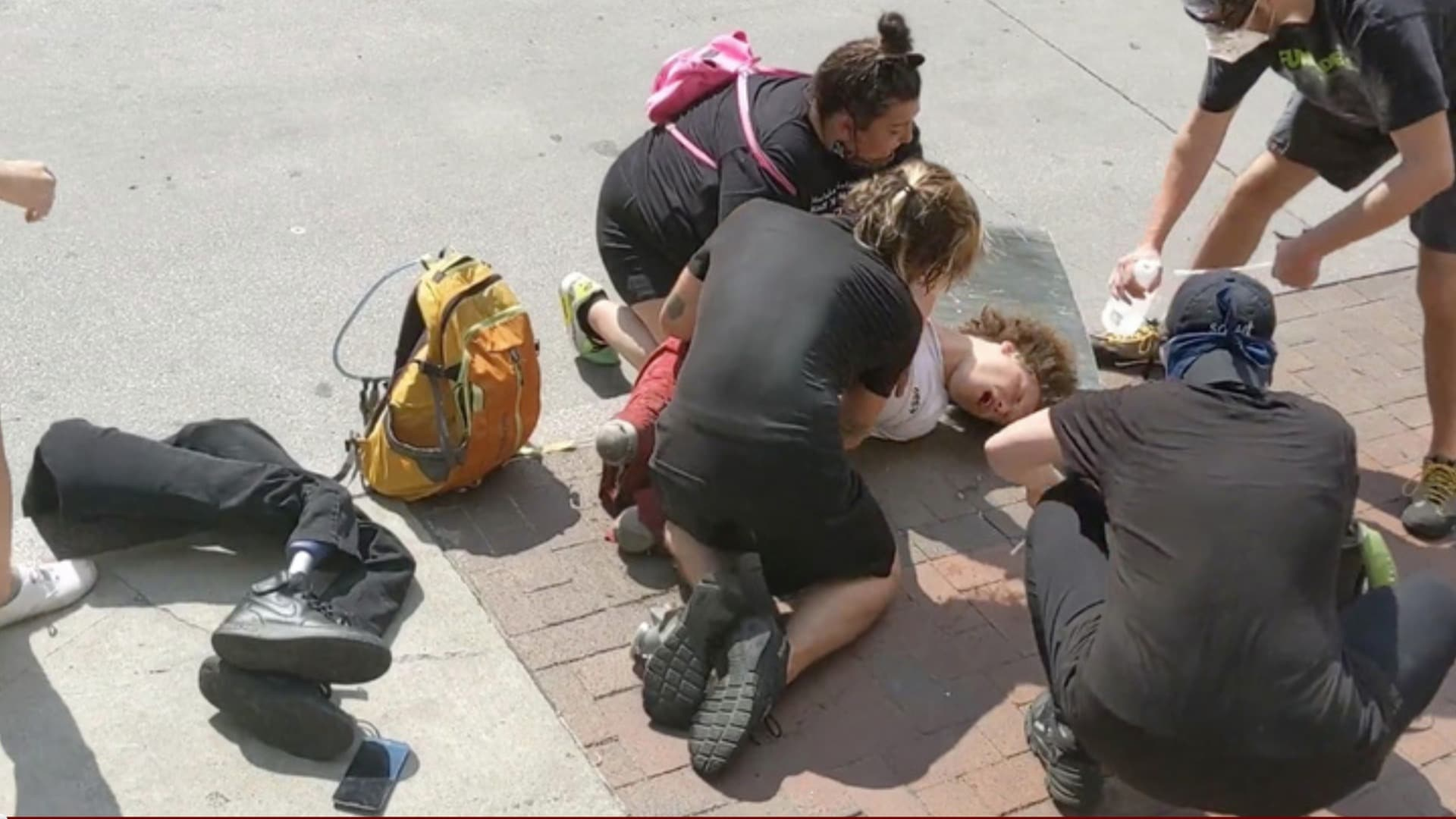 Double amputee protester pepper sprayed by Ohio police - TheGrio