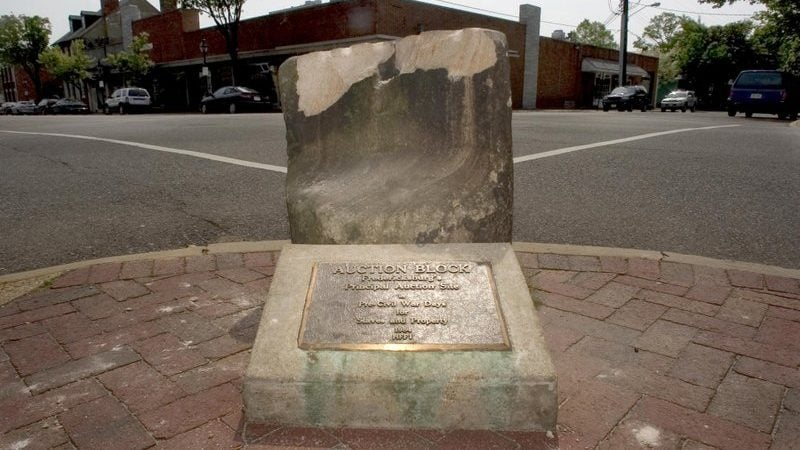 Virginia city removes 176-year-old slave auction block