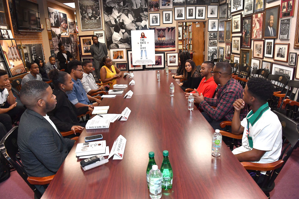 'The Hate U Give' Cast, Direc'The Hate U Give' Cast, Director And Author At Morehouse CollegeÕs Crown Forum In Atlanta