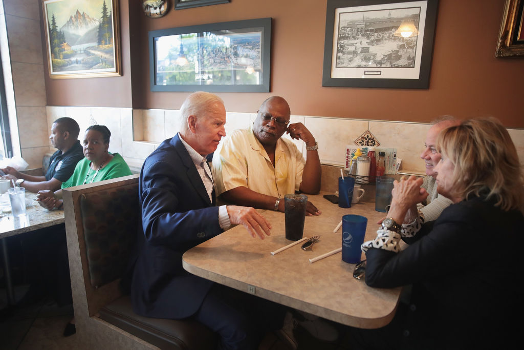 Former Vice President Joe Biden Campaigns In Detroit, Day After Democratic Debate