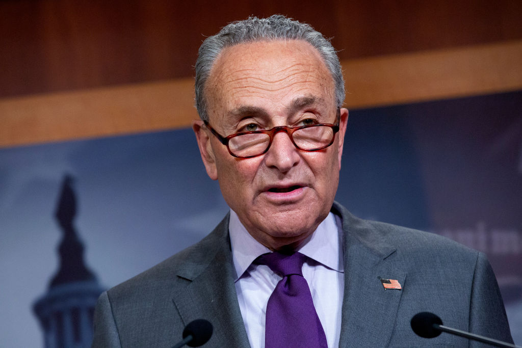Democratic Senators Schumer, Durbin, and Stabenow Hold News Conference On The Hill