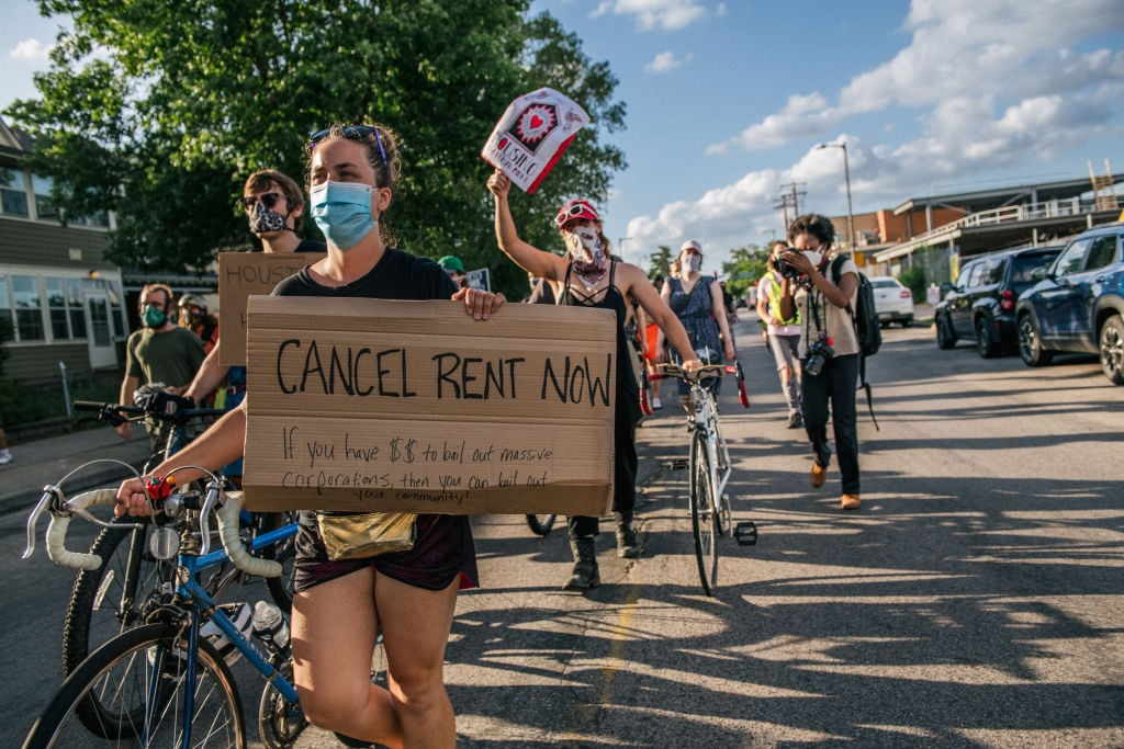 Protesters Call For Cancellations Of Rents And Mortgages In Minneapolis
