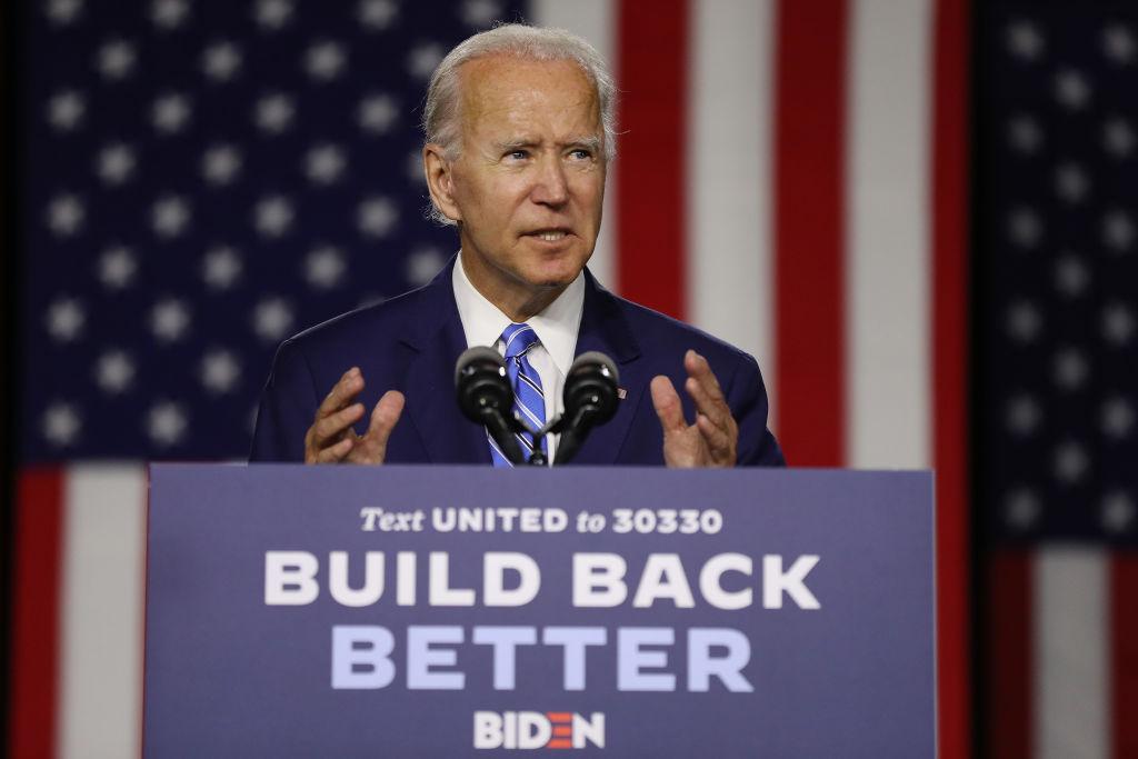"Democratic Presidential Candidate Joe Biden Speaks On His ""Build Back Better"" Clean Energy Economic Plan"