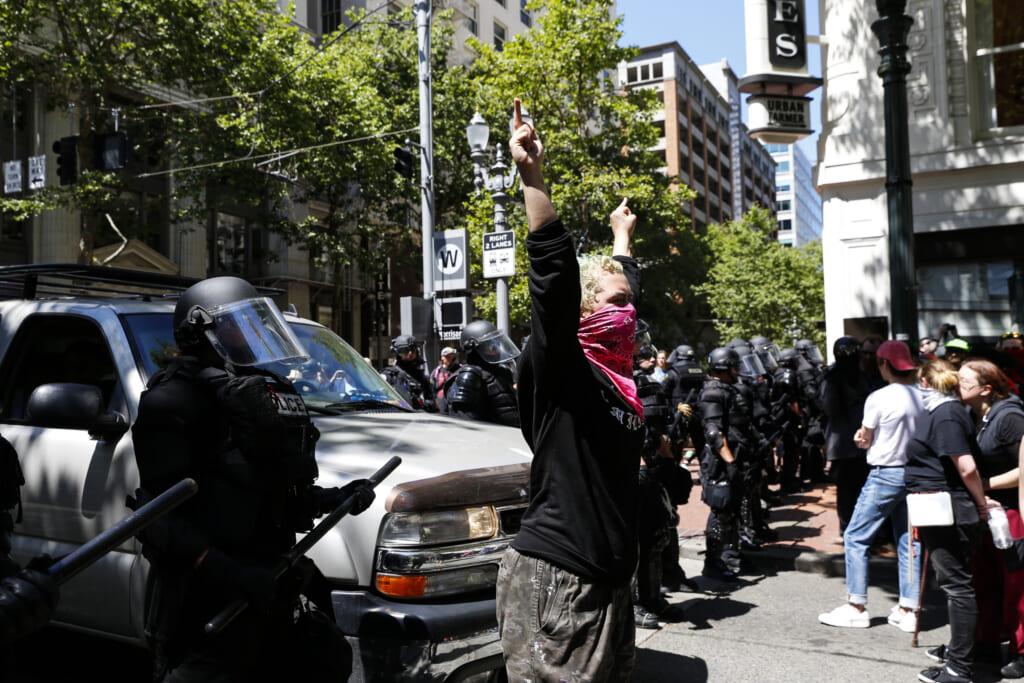 Portland protest thegrio.com