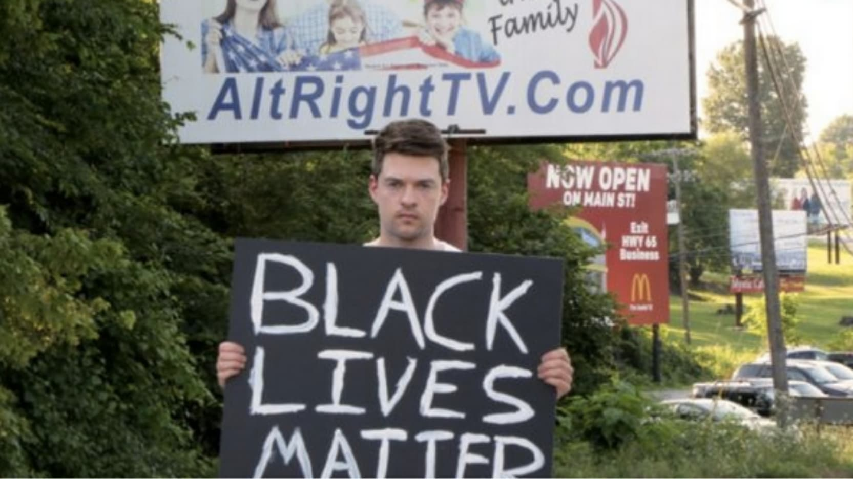 Arkansas man repeatedly harassed for holding BLM sign in viral video