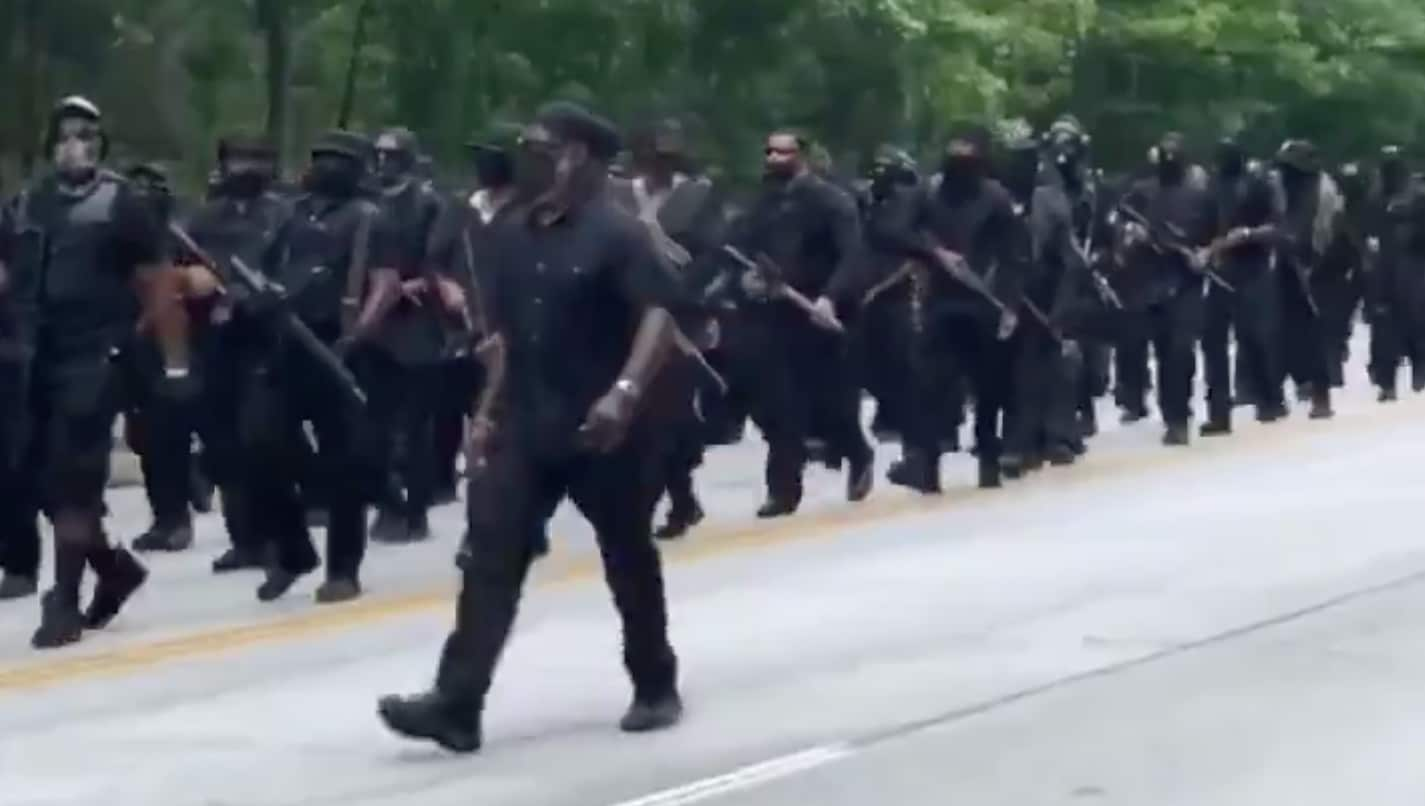 """I'm in yo' house"": Black militia marches through Confederate park on July 4"