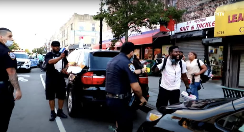NYPD tase Black Lives Matter protester in viral video