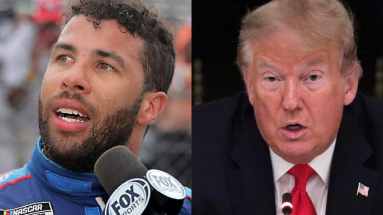 "Bubba Wallace issued a statement that ""love wins"" after President Donald Trump demanded an apology from the only full-time Black NASCAR driver ove"
