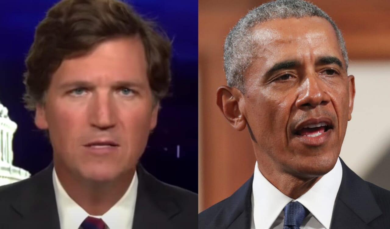 Tucker Carlson slams Obama's John Lewis eulogy, calls him 'greasy politician'