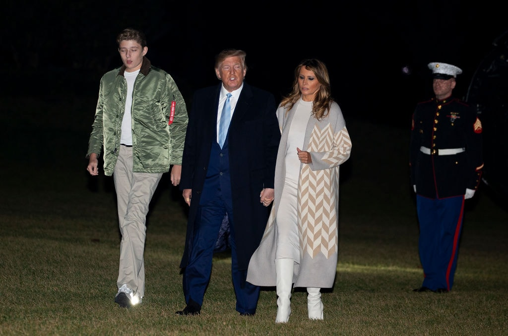 President Trump Arrives Back To White House From Palm Beach, Florida