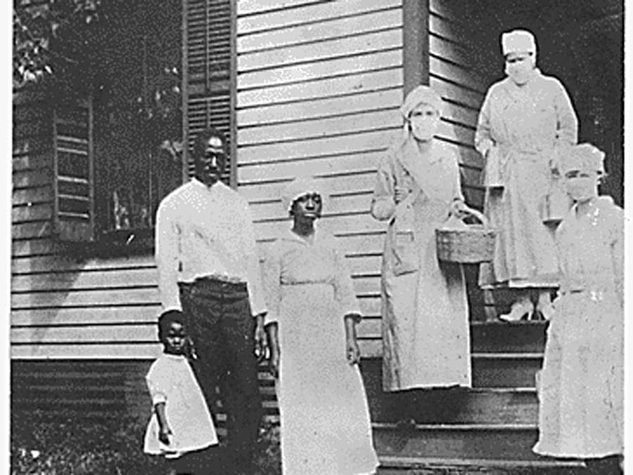 A Black family during the 1918 flu pandemic