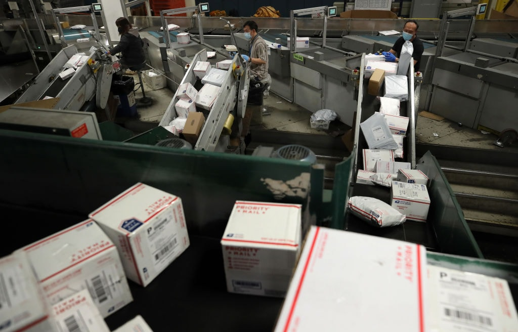 Postal Service Works Through Coronavirus Pandemic And Lockdown