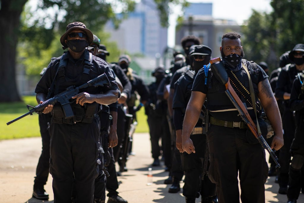 Black Militia Group Holds March In Louisville