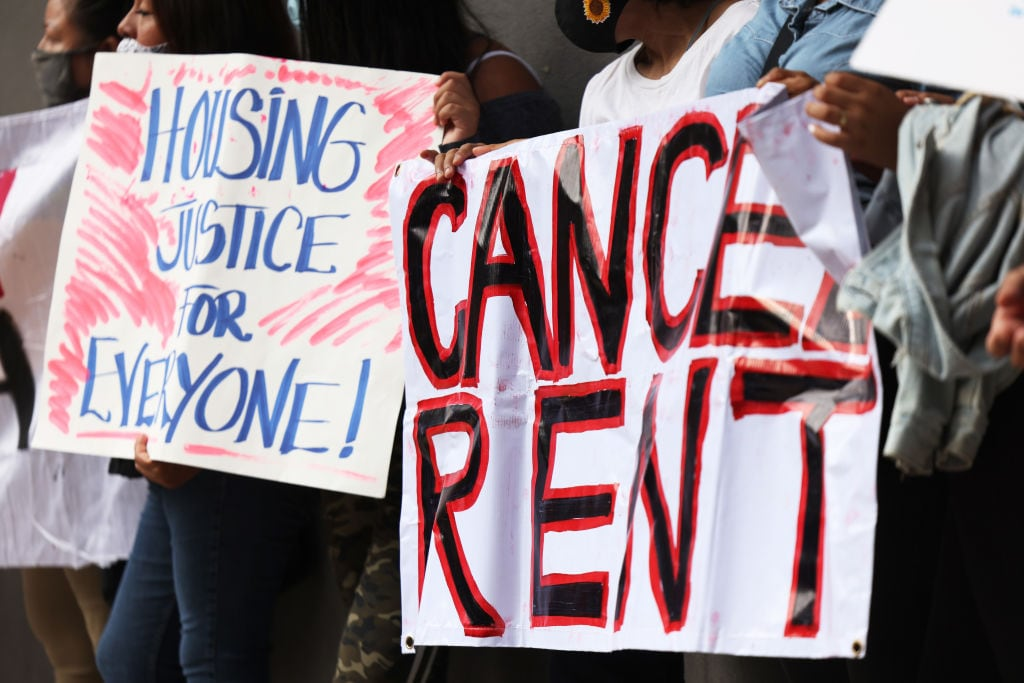 Housing Activists Hold Protest Against Forceful Evictions By Law Enforcement