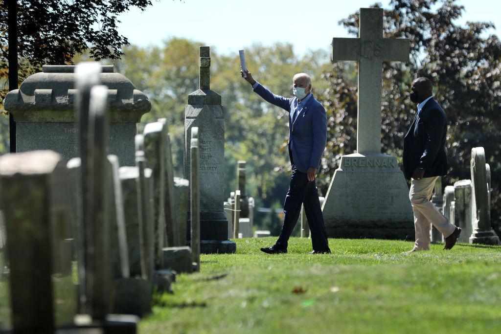 Democratic Presidential Nominee Joe Biden Attends Church In Wilmington