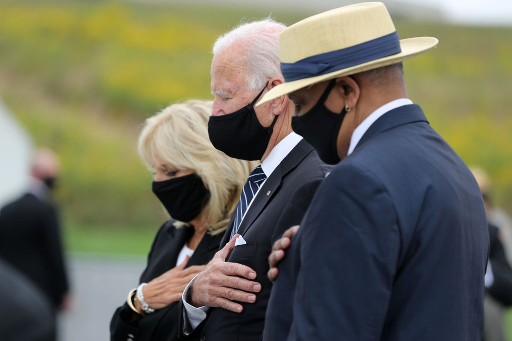 Donald Trump And Joe Biden Attend 9/11 Commemoration In Shanksville, PA