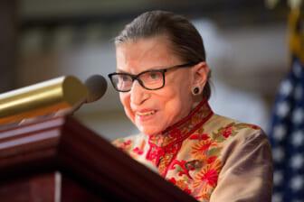 Ruth Bader Ginsberg viewing Biden Harris thegrio.com