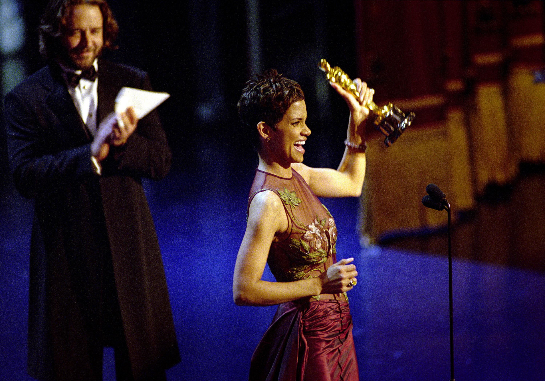 Oscar Winner Halle Berry Winner Accepts The Best Actress Academy Award For Her Performan...