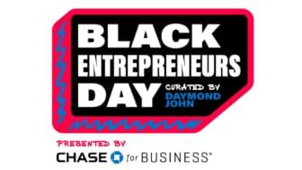 """Daymond John Event Logo that reads """"Black Entrepreneurs Day"""""""