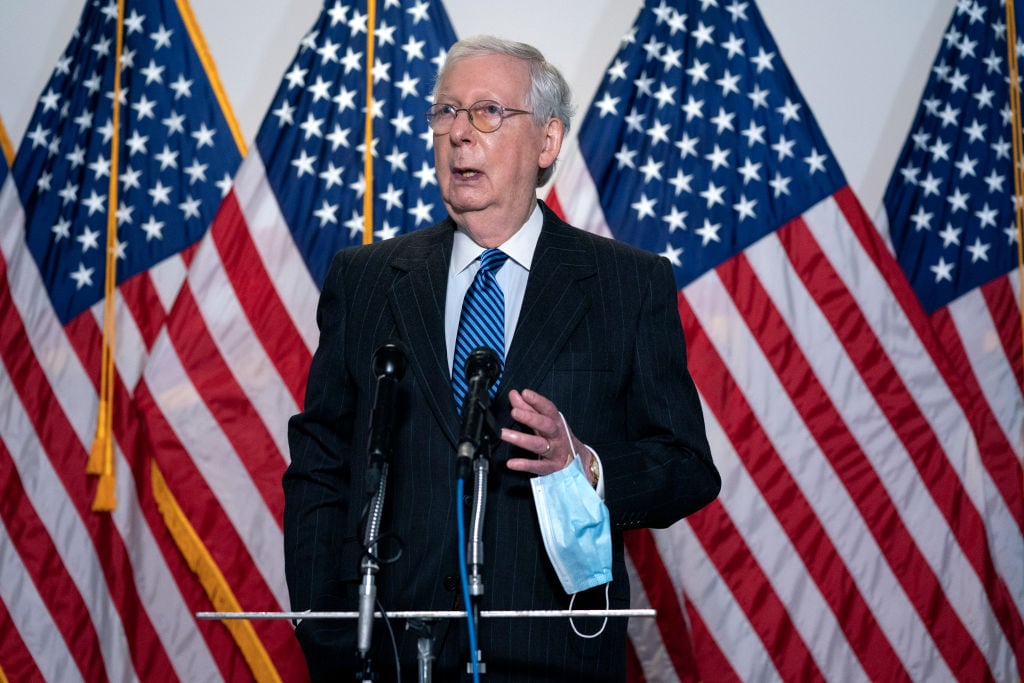 McConnell says 'no concerns' about health while badly bruised, bandaged