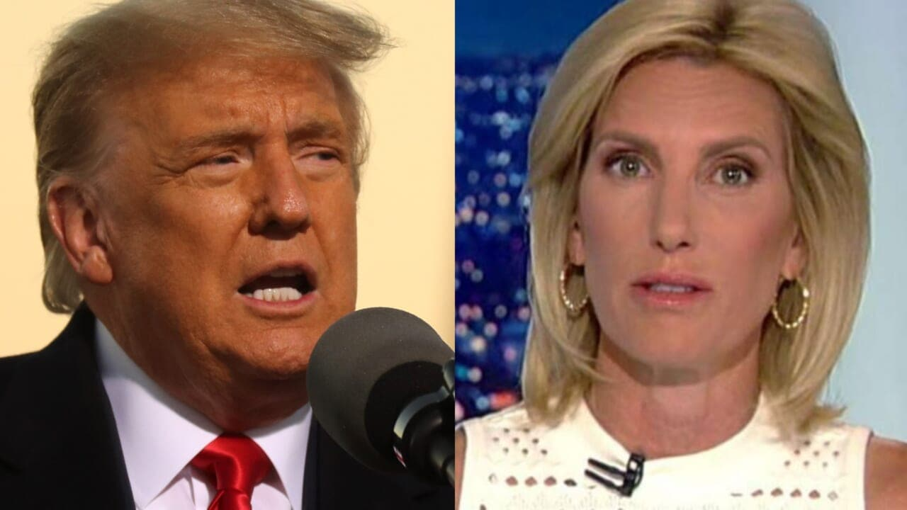 Trump mocks Fox News host Laura Ingraham for wearing mask at rally