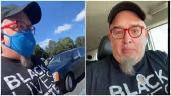 Georgia man told to remove BLM shirt before voting
