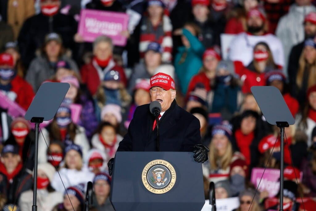 Donald Trump Ends Presidential Campaign With Two Rallies In Michigan