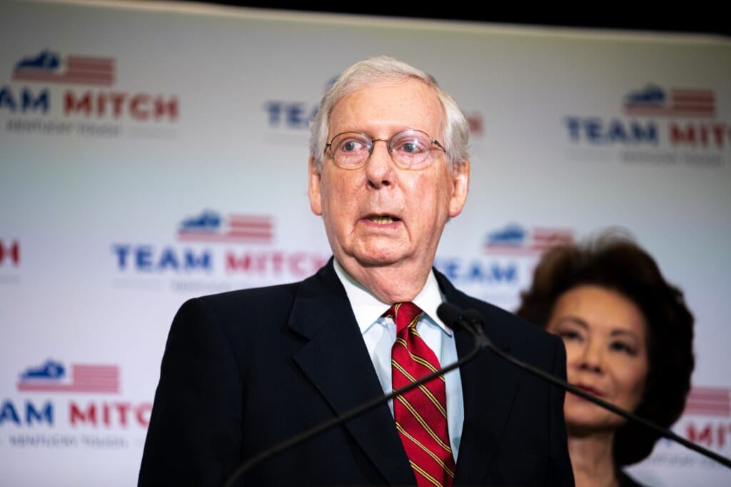 Sen. Mitch McConnell Holds Press Conference To Discuss Election Results