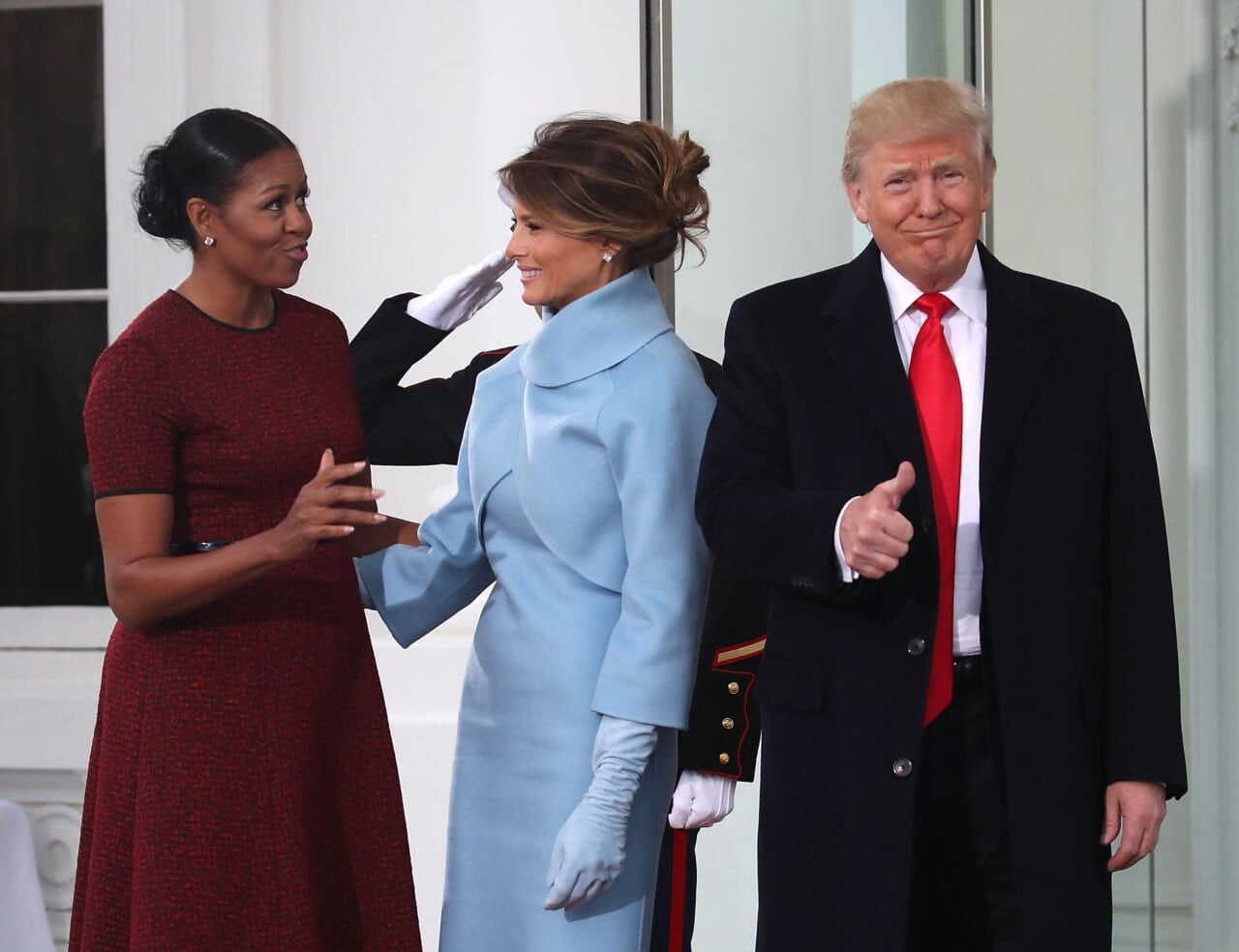 Michelle Obama recalls welcoming Melania despite Trump's 'racist lies'