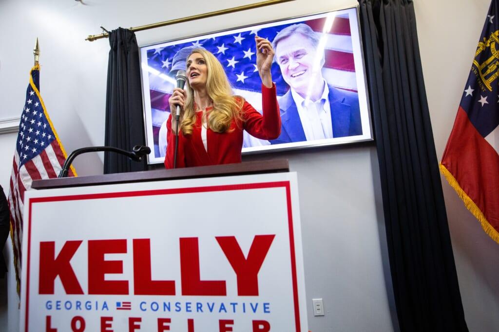 Georgia GOP Senate Candidates David Perdue And Kelly Loeffler Hold Campaign Rally
