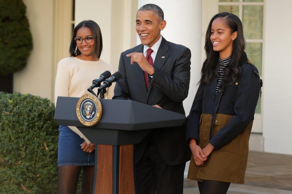 President Obama Sasha Malia thegrio.com
