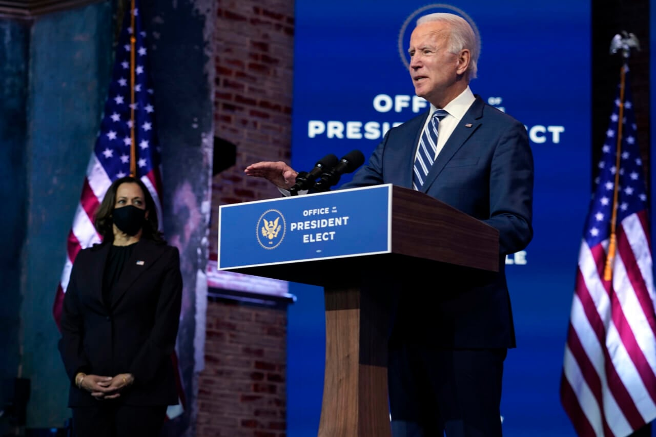 Biden says Trump's refusal to accept election results is an 'embarrassment'