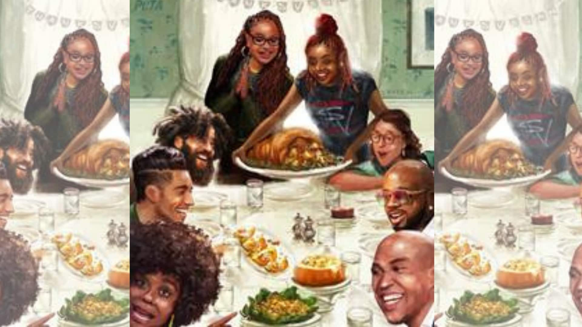 PETA reimagines famous Thanksgiving painting with vegan celebrities - TheGrio