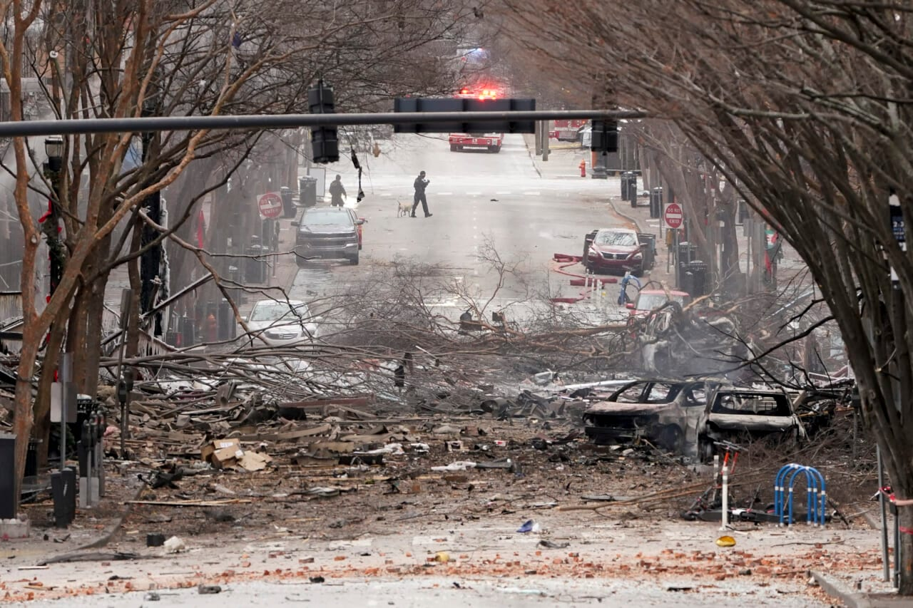 A creepy audio message could be heard just before Nashville's Christmas bomb