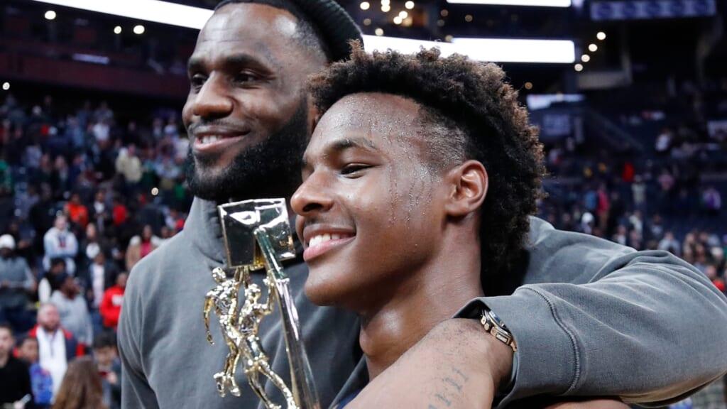 LeBron James Bronny James NBA thegrio.com