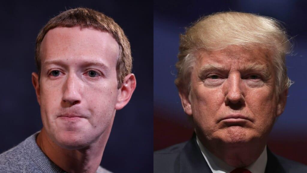 Zuckerberg Trump Facebook thegrio.com