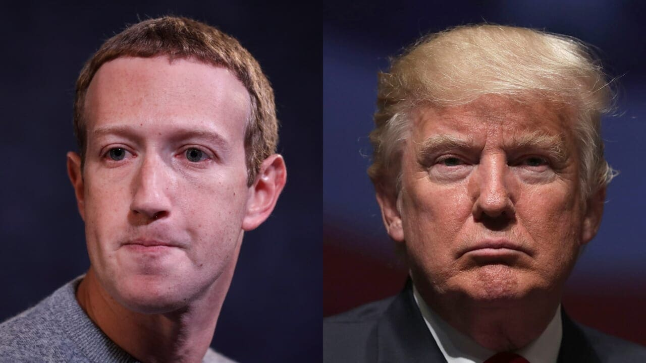 Mark Zuckerberg announces that Trump is banned indefinitely from Facebook and Instagram