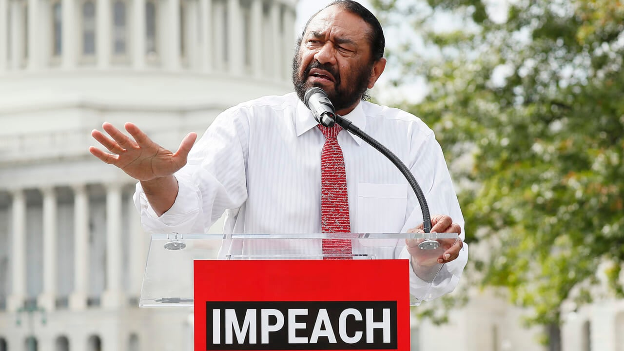Rep. Al Green reacts to praise for early call to impeach Trump in 2019